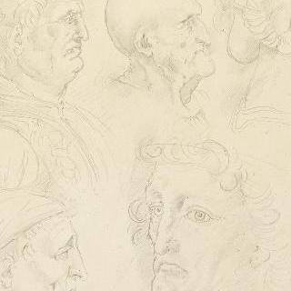 레오나르도 다빈치의 데생풍의 복제화 (두상 습작, 밀라노, 성암브로시우스 도서관)