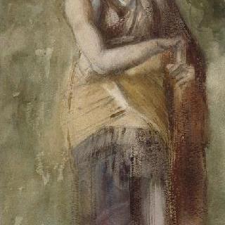 고대 회화풍의 복제화 (자식들의 죽음에 대해 생각하는 메데이아, 나폴리 국립 미술관)
