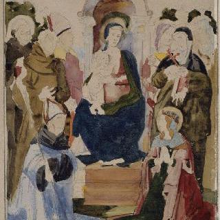 스트라토니체 거장풍의 복제화 (성모와 성자들, 아비뇽 프티 팔레 캉파나 컬렉션)
