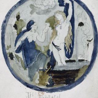 베르나르 팔리시의 학파 표지풍의 복제화 (베르툼누스와 포모나, 루브르 박물관)