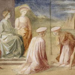 페셀리노풍의 복제화 (성자 코슴과 다미앙의 순교, 피렌체의 우피치 미술관)