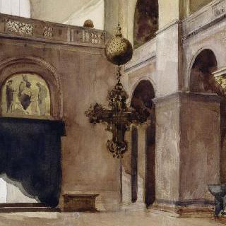 베니스 산 마르코 대성당의 내부 전경