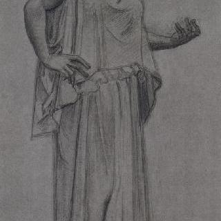 고대 청동 동상풍의 복제화 (헤르쿨라네움의 무희, 나폴리 국립 미술관)