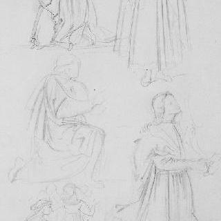 고촐리풍의 복제화 (모세와 율법판, 세부 묘사, 피사의 캄포 산토)
