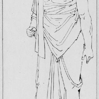 고대 동상풍의 복제화 (제우스 나폴리 국립 미술관)