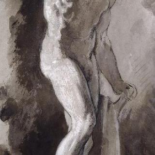 고대 동상풍의 복제화 (춤추는 목신, 나폴리의 국립 미술관)