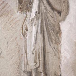 고대 동상풍의 복제화 (디안 드 가비, 루브르 박물관)