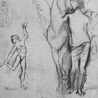 만테그나풍의 복제화 (파르나스 신전, 세부 묘사, 루브르 박물관)