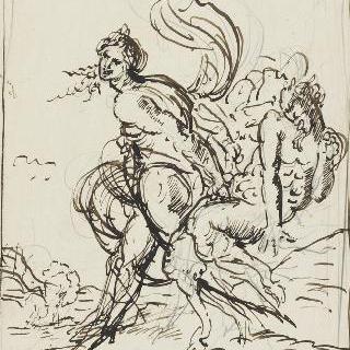 사티로스와 남성 인물