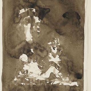 밑그림 44. 모세의 누워있는 나체의 인물 습작