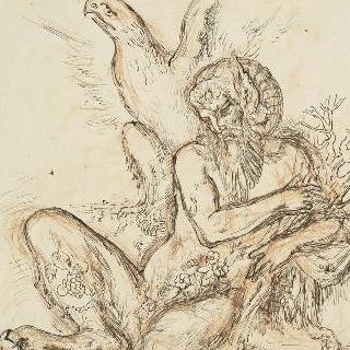 밑그림 49. 제우스와 세멜레의 독수리와 위대한 목신 습작