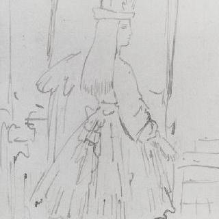 루브르 박물관의 소녀