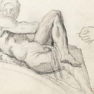 미켈란젤로의 조각풍의 습작 : 메디치가의 무덤, 피렌체, 손 습작