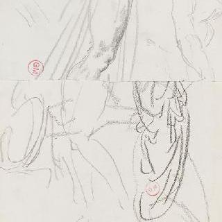 데생 화첩 : 남자의 왼쪽 다리, 남자의 두상