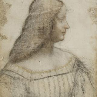 왼쪽으로 몸을 돌린 여인의 측면 초상