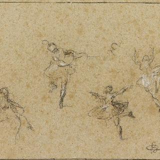 네 명의 춤추는 무희들, 밑그림
