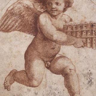 목신의 피리를 들고 날아가는 에로스 : 프시케의 로지아 복제화