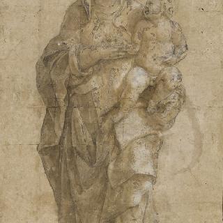 아기 예수를 안고 있는 성모 마리아