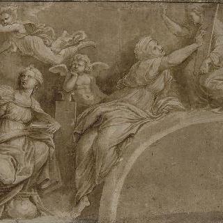 쿠마에와 페르시아의 무녀들과 세 천사들