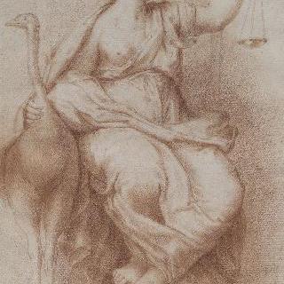 정의의 여신 : 바티칸 콘스탄티누스 1세 침실의 작품 복제화