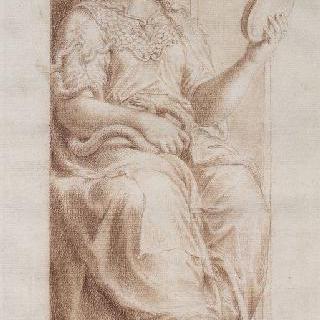 신중함의 여신 : 바티칸 콘스탄티누스 1세 침실의 작품 복제화