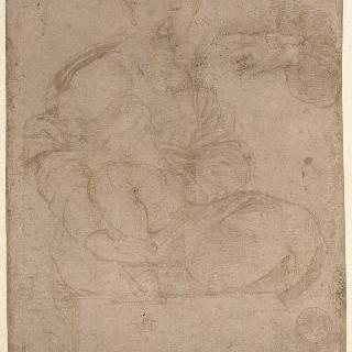 아기 예수를 안고 있는 성모 습작과 수유하는 여인의 왼쪽 팔과 소매 상세 묘사