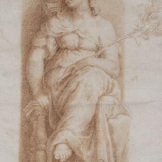 평화의 여신 : 바티칸 콘스탄티누스 1세 침실의 작품 복제화