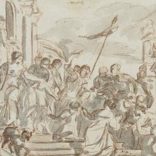 성 마르셀랭과 성 마르셀에게 죽음을 권하는 성 세바스티앙