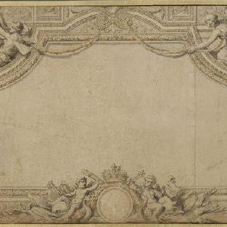 루브르 왕궁의 아폴론관의 천정화 장식 계획안