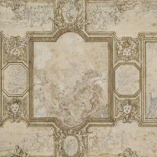 베르사유궁의 대회랑의 궁륭 계획안