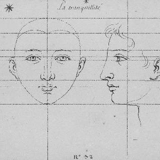 평온 : 두 개의 두상, 정면과 측면
