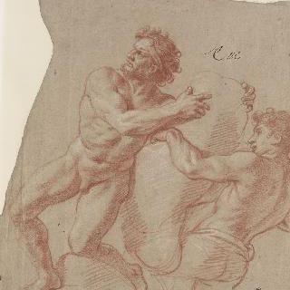 무거운 짐을 든 두 남자 : 불카누스와 키클로페스