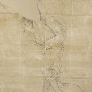 구름 위에 누워있는 날개달린 여인