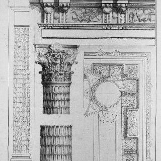 기둥, 기둥머리, 깃돌과 코니스