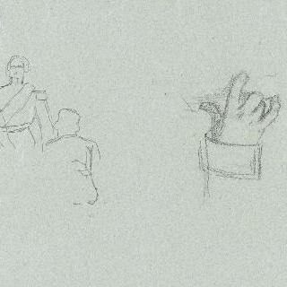나폴레옹 3세의 초상 : 왼손 습작과 소크로키