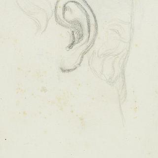 나폴레옹 3세의 초상 : 왼쪽 귀 습작