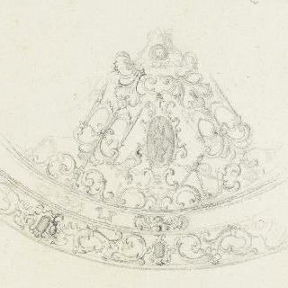 당초문 장식과 아라베스크 장식의 아케이드