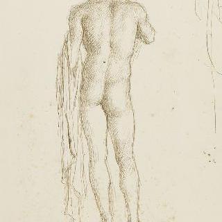 남자 나체화의 뒷모습