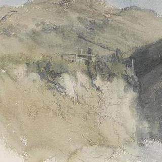 로마의 평야 : 산이 있는 비탈길의 높은 곳에 위치한 건축물
