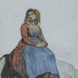 앉아있는 프로시다의 여인