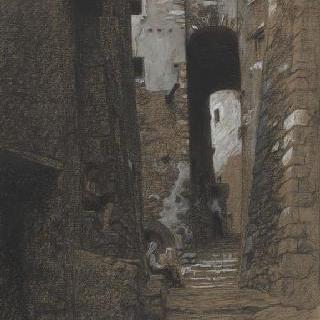 체르바라마을의 골목길