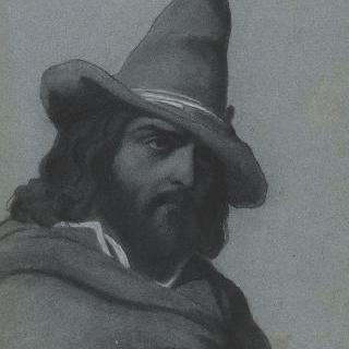 원추형의 모자를 쓴 이탈리아 목동