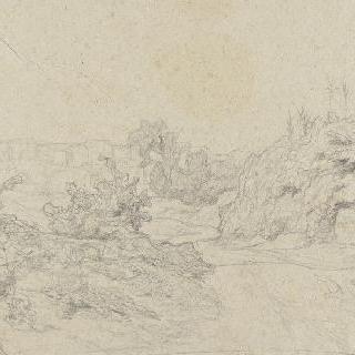 로마의 평야 : 가시덤불로 뒤덮인 강가의 두 개의 유수의 합류점