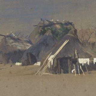 해안의 어부들의 오두막집