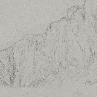 체르바라, 초벌로 그린 높은 곳의 가파른 절벽