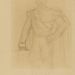 나폴레옹 3세 : 포즈의 간략한 초벌화