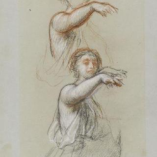 나폴레옹 3세의 초상 : 이탈리아의 우의화의 포즈 습작 2점