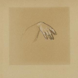 나폴레옹 3세의 초상 : 이탈리아의 우의화의 오른손 습작 이미지