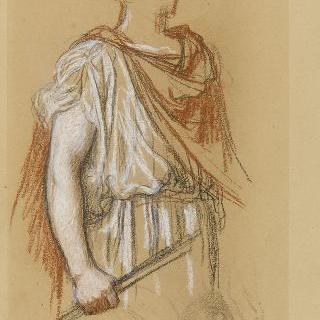나폴레옹 1세의 신격화 습작 : 주름진 천과 포즈 습작