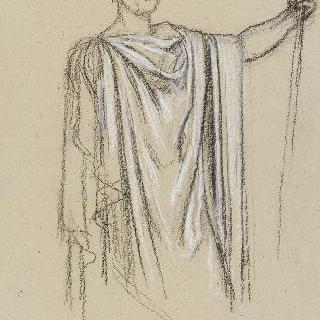 나폴레옹 1세의 신격화 습작 : 주름진 천의 외투 습작
